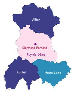 オーヴェルニュの県
